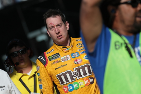 March 12, 2017 - Las Vegas, Nevada, USA:  Kyle Busch (18) walks away after a confrontation with Joey Logano (22) after the Kobalt 400 at Las Vegas Motor Speedway in Las Vegas, Nevada.