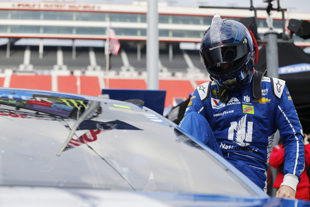 April 22, 2017 - Bristol, Tennessee , USA: Dale Earnhardt Jr. (88) watches practice as teams take to the track for the Food City 500 at Bristol Motor Speedway in Bristol, Tennessee .