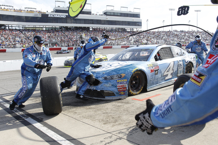 cup four: April 30, 2017 - Richmond, Virginia, USA: Kevin Harvick (4) brings his car down pit road during the Toyota Owners 400 at Richmond International Speedway in Richmond, Virginia. Editorial