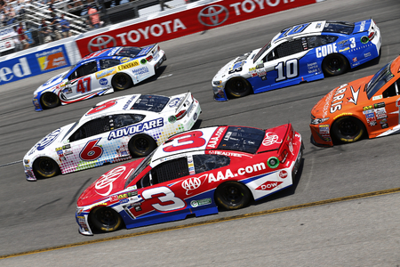 dillon: April 30, 2017 - Richmond, Virginia, USA: Austin Dillon (3), Trevor Bayne (6), A.J. Allmendinger (47) and Danica Patrick (10) battle for position during the Toyota Owners 400 at Richmond International Speedway in Richmond, Virginia. Editorial