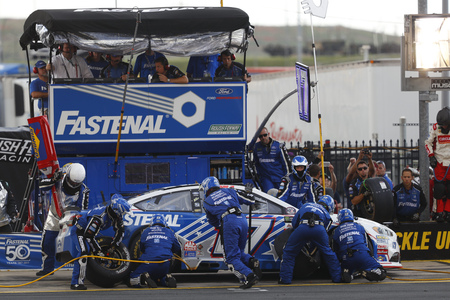 May 28, 2017 - Concord, NC, USA: Ricky Stenhouse Jr. (17) comes down pit road for service during the Coca Cola 600 at Charlotte Motor Speedway in Concord, NC. Editorial