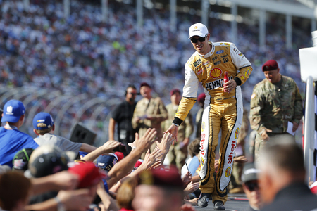 charlotte: May 28, 2017 - Concord, NC, USA: Joey Logano (22) walks to his car for the Coca Cola 600 at Charlotte Motor Speedway in Concord, NC. Editorial