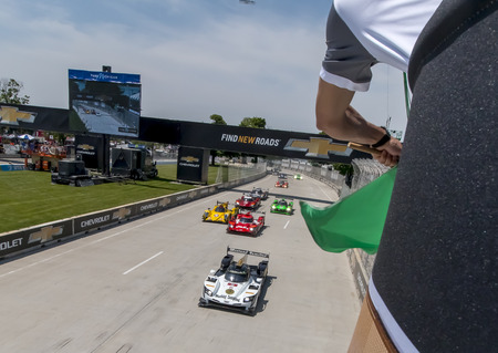 June 03, 2017 - Detroit, Michigan, USA:  The IMSA WeatherTech SportsCar Championship race at the Chevrolet Sports Car Classic at Belle Isle Street Course in Detroit, Michigan. Stok Fotoğraf - 79689398
