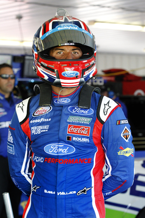 June 09, 2017 - Long Pond, PA, USA: Darrell Wallace, Jr. (43) hangs out in the garage prior to practice for Pocono 400 at Pocono Raceway in Long Pond, PA. Editorial