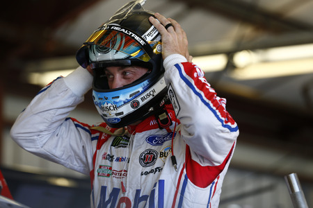 June 23, 2017 - Sonoma, CA, USA: Kevin Harvick (4) hangs out in the garage during practice for the ToyotaSave Mart 350 at Sonoma Raceway in Sonoma, CA. Editorial