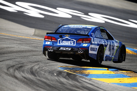 June 23, 2017 - Sonoma, CA, USA: Jimmie Johnson (48) takes to the track to practice for the ToyotaSave Mart 350 at Sonoma Raceway in Sonoma, CA. Editorial