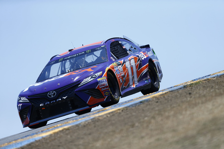 June 23, 2017 - Sonoma, CA, USA: Denny Hamlin (11) takes to the track to practice for the ToyotaSave Mart 350 at Sonoma Raceway in Sonoma, CA. Editorial
