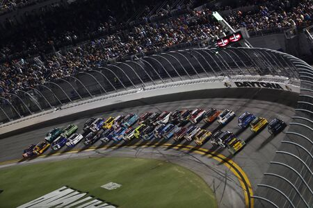 Speed Racing at Daytona International Speedway Editorial