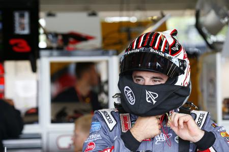 garage: August 05, 2017 - Watkins Glen, New York, USA: Austin Dillon (3) hangs out in the garage during practice for the I LOVE NY 355 at Watkins Glen International in Watkins Glen, New York.