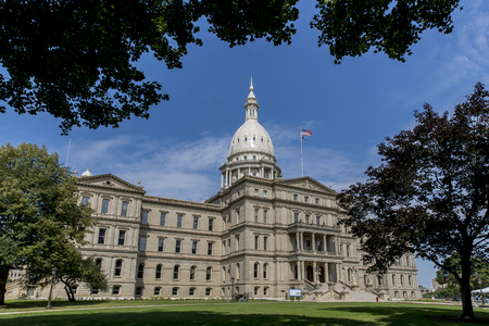 The Michigan State Capitol is the building that houses the legislative branch of the government of the U.S. state of Michigan. It is in the portion of the state capital of Lansing which lies in Ingham County.