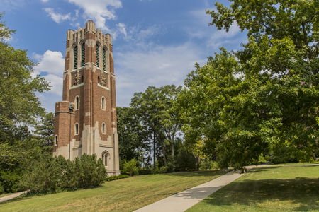 The Beaumont Tower is a structure on the campus of Michigan State University, designed by the architectural firm of Donaldson and Meier and completed in 1928. 新闻类图片