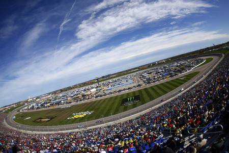 October 22, 2017 - Kansas City, Kansas, USA: The Monster Energy NASCAR Cup Series races during the Hollywood Casino 400 at Kansas Speedway in Kansas City, Kansas.