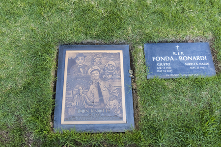 October 25, 2017 - Los Angeles, California, USA: Actor, Don Knotts tomb at Westwood Memorial Park in Los Angeles, California.  Don died on August February 24, 2006 of pulmonary and respiratory complications of pneumonia related to lung cancer