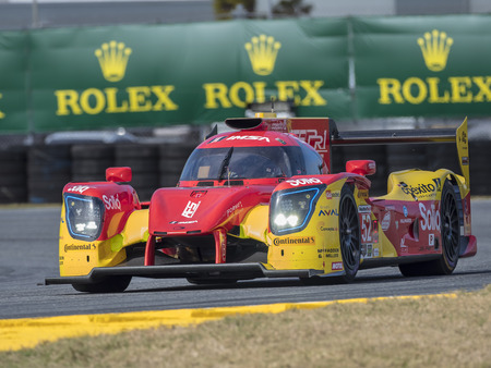 January 25, 2018 - Daytona Beach, Florida, USA:  The IMSA WeatherTech SportsCar Championship practice for the Rolex 24 Hours At Daytona at Daytona International Speedway in Daytona Beach, Florida. Editorial