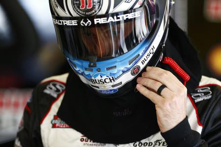 February 16, 2018 - Daytona Beach, Florida, USA: Kevin Harvick (4) gets ready to practice  for the Daytona 500 at Daytona International Speedway in Daytona Beach, Florida.
