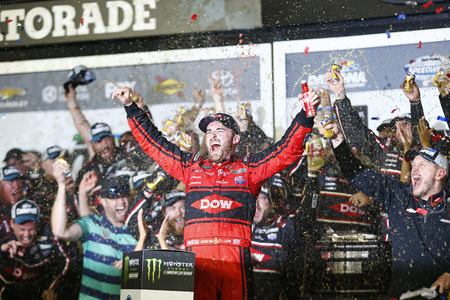 February 18, 2018 - Daytona Beach, Florida, USA: Austin Dillon (3) gets out of the car after winning the Daytona 500 at Daytona International Speedway in Daytona Beach, Florida. Editorial