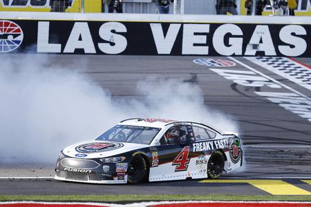 March 04, 2018 - Las Vegas, Nevada, USA: Kevin Harvick (4) celebrates after winning the Pennzoil 400 at Las Vegas Motor Speedway in Las Vegas, Nevada.
