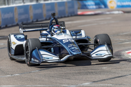 March 09, 2018 - St. Petersburg, Florida, USA: Max Chilton (59) takes to the track for a practice session for the Firestone Grand Prix of St. Petersburg at Streets of St. Petersburg in St. Petersburg, Florida.