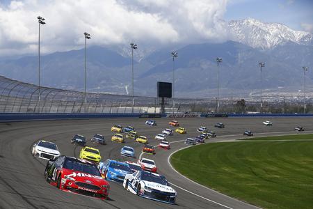 March 18, 2018 - Fontana, California, USA: Kurt Busch (41) brings his car through the turns during the Auto Club 400 at Auto Club Speedway in Fontana, California.
