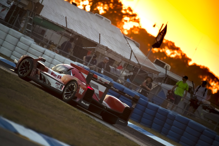 March 17, 2018 - Sebring, Florida, USA:  The Whelen Engineering Racing Cadillac DPI car races through the turns at the Mobil 1 12 Hours of Sebring at Sebring International Raceway in Sebring, Florida. Editorial