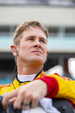 April 06, 2018 - Avondale, Arizona, USA: Ryan Hunter-Reay (28) prepares to qualify for the Desert Diamond West Valley Casino Phoenix Grand Prix at ISM Raceway in Avondale, Arizona.