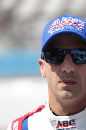 April 06, 2018 - Avondale, Arizona, USA: Tony Kanaan (14) prepares for a practice session for the Desert Diamond West Valley Casino Phoenix Grand Prix at ISM Raceway in Avondale, Arizona. Editorial