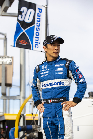 April 06, 2018 - Avondale, Arizona, USA: Takuma Sato (30) prepares to qualify for the Desert Diamond West Valley Casino Phoenix Grand Prix at ISM Raceway in Avondale, Arizona.