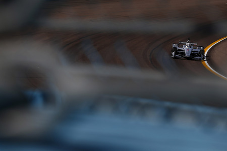 April 06, 2018 - Avondale, Arizona, USA: Josef Newgarden (1) dives into turn 1 during practice for the Desert Diamond West Valley Casino Phoenix Grand Prix at ISM Raceway in Avondale, Arizona. Editorial