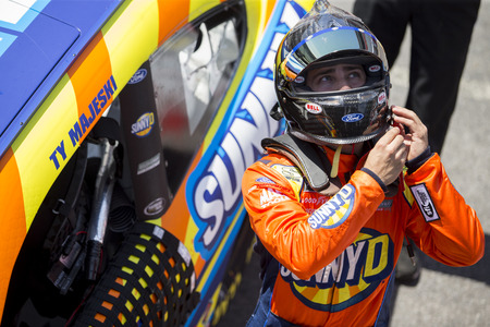 April 13, 2018 - Bristol, Tennesse , USA: Chase Briscoe (60) gets ready to practice for the Fitzgerald Glider Kits 300 at Bristol Motor Speedway in Bristol, Tennesse .
