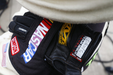 April 08, 2018 - Ft. Worth, Texas, USA: A crew member works in the pits during the OReilly Auto Parts 500 at Texas Motor Speedway in Ft. Worth, Texas. Editorial