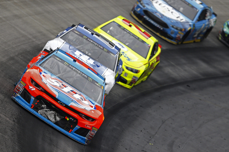 April 16, 2018 - Bristol, Tennessee, USA: Darrell Wallace, Jr (43) brings his car through the turns during the Food City 500 at Bristol Motor Speedway in Bristol, Tennessee.
