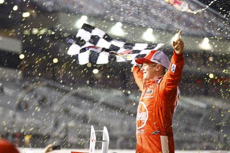 April 20, 2018 - Richmond, Virginia, USA: Christopher Bell (20) wins the ToyotaCare 250 at Richmond Raceway in Richmond, Virginia.