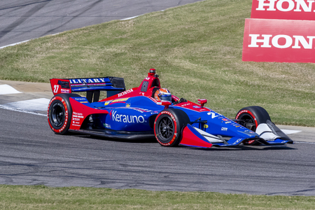 ALEXANDER ROSSI (27) of the United States takes to the track for a practice session for the Honda Indy Grand Prix of Alabama at Barber Motorsports Park in Birmingham Alabama.