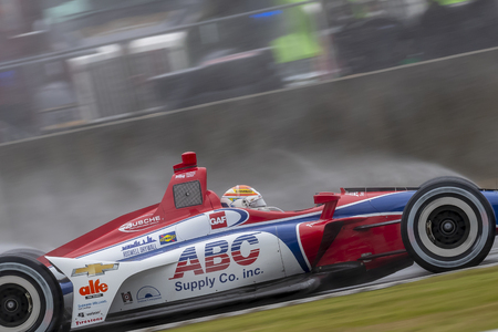 MATHEUS LEIST (4) of Brazil brings his car through the turns during the Honda Indy Grand Prix of Alabama at Barber Motorsports Park in Birmingham Alabama.