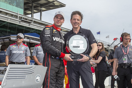 WILL POWER (12) of Australia wins the pole award for the IndyCar Grand Prix at Indianapolis Motor Speedway Road Course in Indianapolis, Indiana.