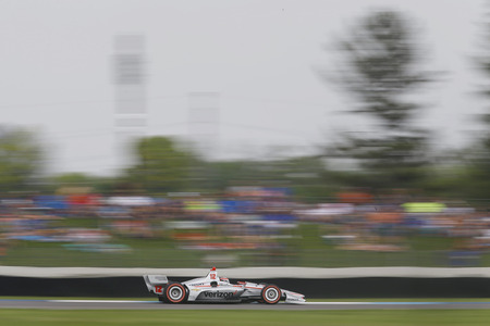 May 12, 2018 - Indianapolis, Indiana, USA: WILL POWER (12) of Australia brings his car through the turns during the IndyCar Grand Prix at Indianapolis Motor Speedway Road Course in Indianapolis, Indiana. Editorial