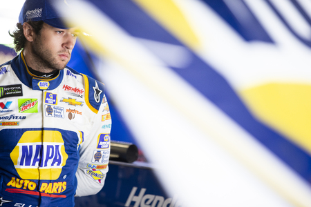 May 11, 2018 - Kansas City, Kansas, USA: Chase Elliott (9) gets ready to practice for the KC Masterpiece 400 at Kansas Speedway in Kansas City, Kansas.
