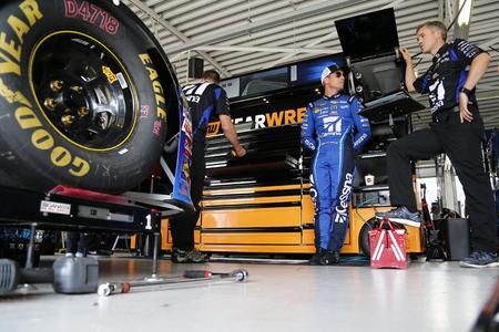 May 11, 2018 - Kansas City, Kansas, USA: Jamie McMurray (1) gets ready to practice for the KC Masterpiece 400 at Kansas Speedway in Kansas City, Kansas.