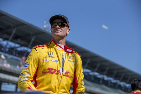 May 25, 2018 - Indianapolis, Indiana, USA: RYAN HUNTER-REAY (28) of the United States gets suited up to take to the track to practice for the Indianapolis 500 at the Indianapolis Motor Speedway in Indianapolis, Indiana.