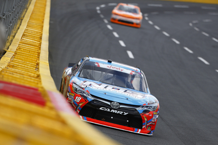 May 26, 2018 - Concord, North Carolina, USA: Kyle Busch (18) brings his car through the turns during the Alsco 300 at Charlotte Motor Speedway in Concord, North Carolina.