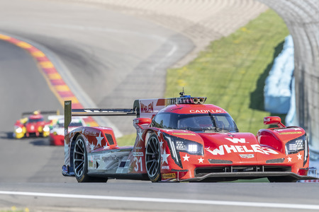 June 30, 2018 - Watkins Glen, New York, USA: The Whelen Engineering Racing Cadillac DPI car practice for the Sahlens Six Hours At The Glen at Watkins Glen International Raceway in Watkins Glen, New York.