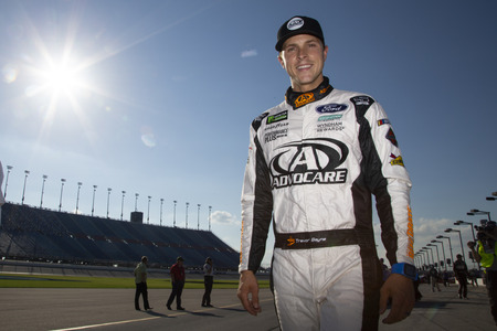 June 30, 2018 - Joliet, Illinois , USA: Trevor Bayne (6) gets ready to qualify for the Overton's 400 at Chicagoland Speedway in Joliet, Illinois . Editorial