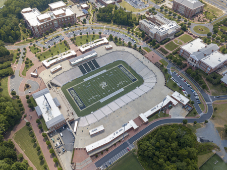 Aerial view of Jerry Richardson Stadium at the University of North Carolina at Charlotte. Home of the UNCC 49ers