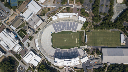 Brooks Field at Wallace Wade Stadium is a 40,004-seat stadium on the campus of Duke University in Durham, North Carolina Editorial