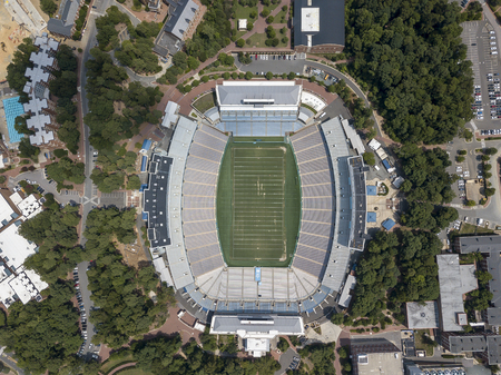 Kenan Memorial Stadium is located in Chapel Hill, North Carolina and is the home field of the North Carolina Tar Heels.