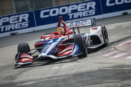 July 14, 2018 - Toronto, Ontario, CA: MATHEUS LEIST (4) of Brazil takes to the track to practice for the Honda Indy Toronto at Streets of Toronto in Toronto, Ontario.