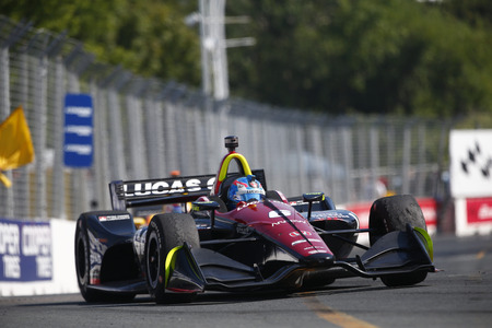 July 15, 2018 - Toronto, Ontario, CA: ROBERT WICKENS (6) of Canada battles for position during the Honda Indy Toronto at Streets of Toronto in Toronto, Ontario.
