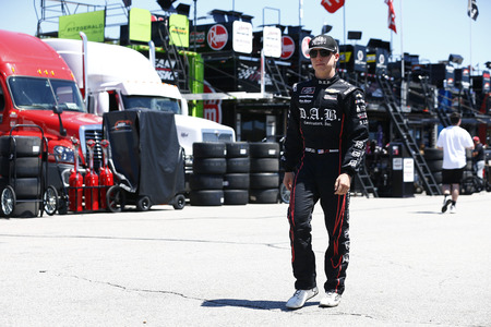 July 20, 2018 - Loudon, New Hampshire, USA: John Hunter Nemechek (42) hangs out in the garage during practice for the Lakes Region 200 at New Hampshire Motor Speedway in Loudon, New Hampshire.