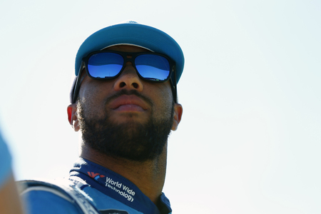 July 20, 2018 - Loudon, New Hampshire, USA: Darrell Wallace, Jr (43) prepares to take to the track to qualify for the Foxwoods Resort Casino 301 at New Hampshire Motor Speedway in Loudon, New Hampshir