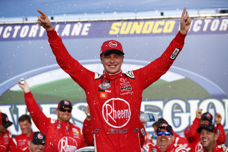 July 21, 2018 - Loudon, New Hampshire, USA: Christopher Bell (20) wins the Lakes Region 200 at New Hampshire Motor Speedway in Loudon, New Hampshire.